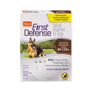 Hartz First Defense Topical Treatment for Dogs 89 to 132 Lbs
