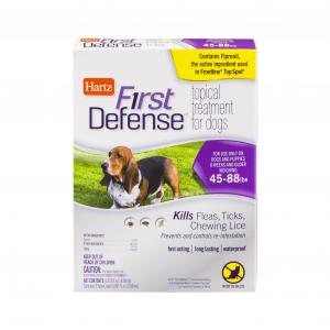 Hartz First Defense Topical Treatment For Dogs 45 To 88 Lbs.