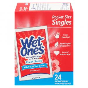 Wet Ones Fresh Scent Antibacterial Hand Wipes