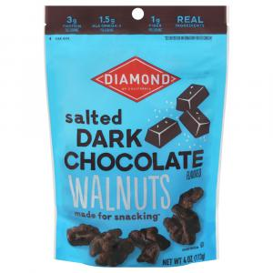 Diamond Salted Dark Chocolate Walnuts