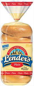 Lender's Fresh Plain Bagels