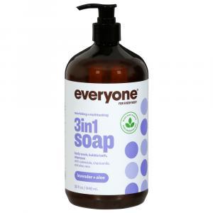 Everyone Soap Shampoo Body Wash & Bubble Bath Lavender Aloe