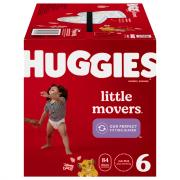 Huggies Little Movers Size 6 Huge Pack Diapers