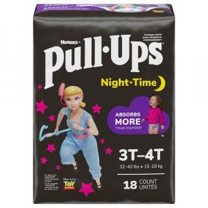 Pull-Ups Nighttime Girl 3T-4T Diapers Jumbo Pack