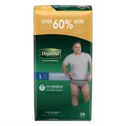 Depend Maximum Absorbency Men's Large Underwear Value Pack