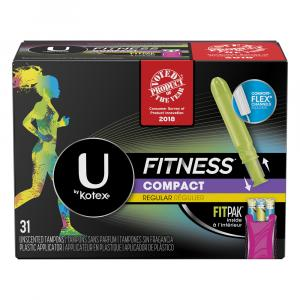 U By Kotex Fitness Regular Compact Tampons Fitpak