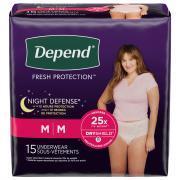 Depend Night Defense Women's Medium Overnight Underwear