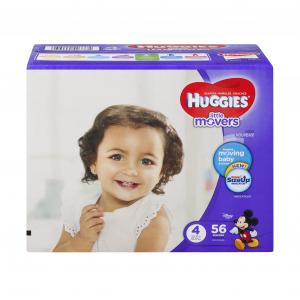 Huggies Little Movers Step 4 Big Pack Diapers