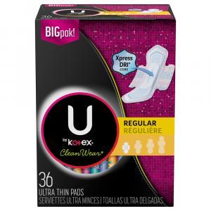 U By Kotex Clean Wear Ultra Thin Regular Pads