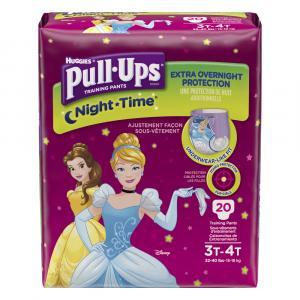 Pull-Ups Nighttime Girl 3T-4T Jumbo Diapers