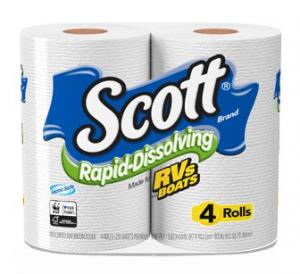 Scott Rapid-Dissolving Bath Tissue