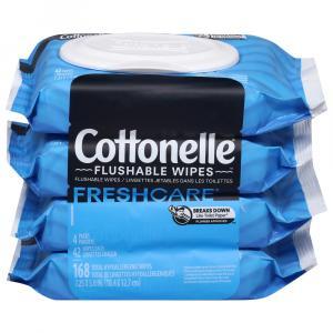 Cottonelle Flushable Wipes Clean Care