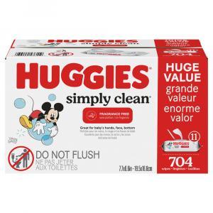 Huggies Simply Clean Fragrance Free Wipes