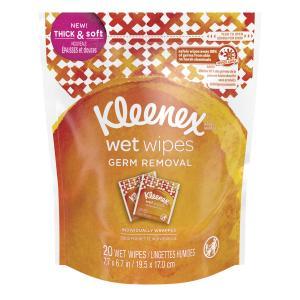 Kleenex Wet Wipes Germ Removal