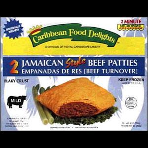 Caribbean Food Delights Jamaican Style Mild Beef Patties