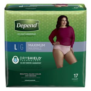 Depend for Women Underwear Large