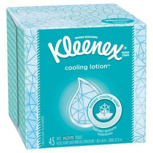 Kleenex Cool Lotion Facial Tissues