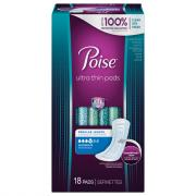Poise Moderate Absorbency Ultra Thin Regular Pads