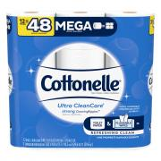 Cottonelle Clean Care Mega Roll Bath Tissue