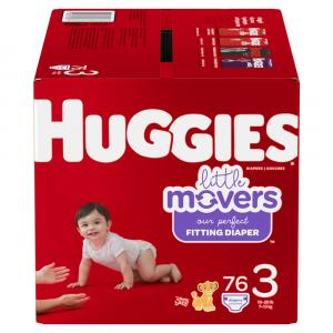 Huggies Little Movers Size 3 Giga Pack Diapers