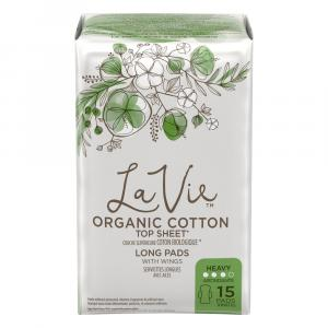 La Vie Organic Cotton Long Heavy Pads