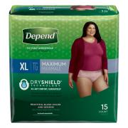 Depend for Women Underwear Extra Large Maximum Absorbency