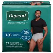 Depend Men's Large Maximum Absorbency Underwear