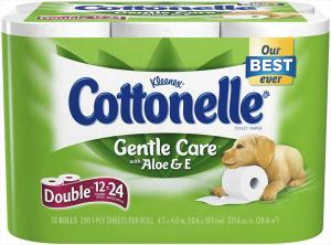 Cottonelle Bath Tissue With Aloe And Vitamin E