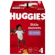 Huggies Little Movers Size 4 Huge Pack Diapers
