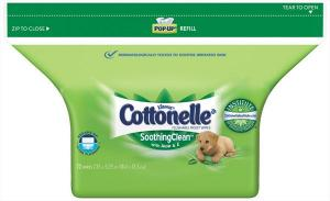 Cottonelle Soothing Clean Wipes Refill