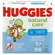Huggies Refreshing Clean Wipes Cucumber & Green Tea Scent