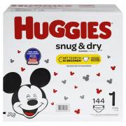 Huggies Snug and Dry Step 1 Diapers