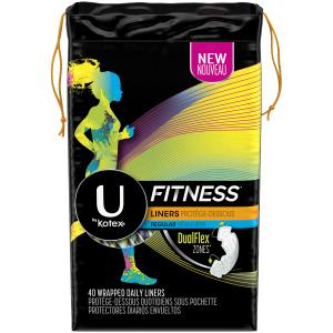 U By Kotex Fitness Regular Wrapped Liners