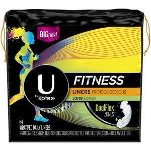 U By Kotex Fitness Long Wrapped Liners