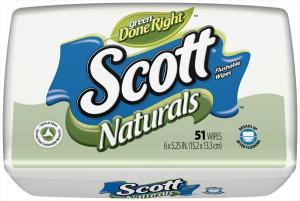 Scott Naturals Flushable Wipes Tub