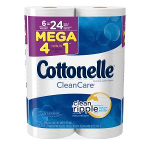 Cottonelle Clean Care Mega Roll Tower Bath Tissue