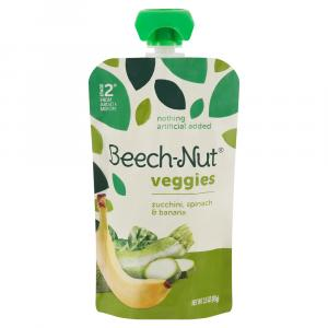 Beech-Nut Vegetable Blend Zucchini Spinach and Banana Pouch