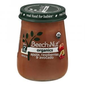 Beech-Nut Just Organic Stage 2 Apple, Raspberry and Avocado