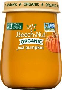 Beech-nut Organic Stage 1 Just Pumpkin