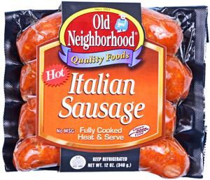 Old Neighborhood Hot Italian Sausage