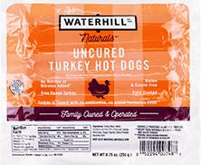 Waterhill Naturals Uncured Turkey Hot Dogs
