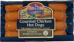 Thin 'n Trim Gourmet Chicken Hot Dogs