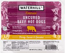 Waterhill Naturals Uncured Beef Hot Dogs