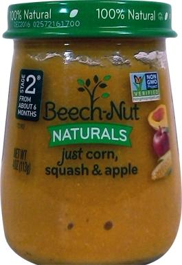 Beech-nut Stage 2 Just Corn, Squash & Apple