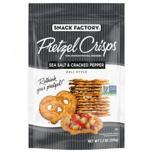 Snack Factory Sea Salt & Cracked Pepper Pretzel Crisps