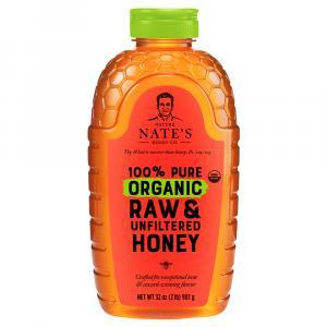 Nature Nate's 100% Pure Raw & Unfiltered Organic Honey