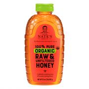 Nature Nate's 100% Pure Raw & Unfiltered Organic Honey