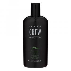 American Crew 3-In-1 Tea Tree Shampoo Conditioner Body Wash