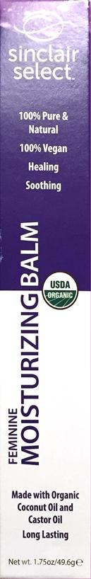 Sinclair Select Organic Moisturizing Balm