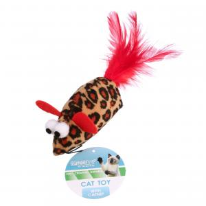 Multipet Feather Mouse Cat Toy